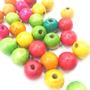 30 יחידות חרוזים לילדים / חרוזי עץ / חרוזים צבעוניים