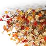תאורת צמודת תקרה פרחים בגוונים חומים