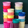 סט 6 כוסות מלמין אספרסו צבעי סאני