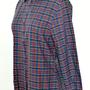 חולצת וינטג' משובצת של בנטון