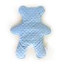 דובון חיבוקון בצבע תכלת לתינוק או לתינוקת   כרית דובי מעוצבת   חפץ מעבר שמיכי