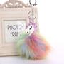 מחזיק מפתחות חד קרן | כדור פרווה unicorn | יוניקורן | לילדות | מתנה מקורית לחברה | חד קרן | אקססוריז לבנות | מתנה קטנה