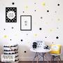 מדבקות קיר כוכבים 3 צבעים | מדבקות לחדר ילדים | מדבקות לחדר תינוקות | מדבקות קיר | עיצוב חדר ילדים | מדבקות לילדים