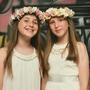 זר לראש   כתר פרחים   זר פרחי משי   עיטור ראש   חגיגה   יום הולדת   בת מצווש  לבן ורוד   מלאכותי   ורדים   זר ראש   שושבינה   מסיבת רווקות  