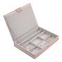 קופסת תכשיטים מודולרית 3 קומות גודל קלאסיק -ורוד בלאש.