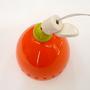 מנורת פעמון כתומה מקרמיקה עם חרוזים צבעוניים