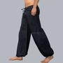 מכנס שחור שרוול עם 4 כיסים