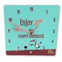 שעון שולחני תכלת - Enjoy every moment
