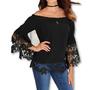 ZANZEA חולצת שרוול ארוך עם תחרה מידות גדולות