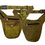 חגורת כיסים- פאוץ ירוק זהב