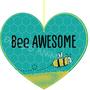 מתנה לראש השנה - תליון לב - BEE AWESOME