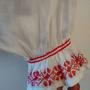 חולצה רומניה לבנה רקומה בוהו שיק 20% הנחה   חולצה לבנה רקומה באדום   חולצה רקמת יד משנות ה60' מידה s