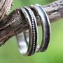 טבעת כסף מושחר, טבעת נישואין מכסף, טבעת נישואין מעוצבת, טבעת כסף לגבר, טבעת נישואין גולמית, טבעת כסף סטרלינג, טבעת יוניסקס