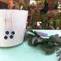 עגילי כסף תלויים- אבני חן ג'ייד בצבע כחול , עבודת יד