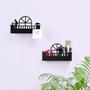 מדף מתכת קטן לחפצים קטנים - דגם גבר, מרפסת קשתית