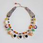 שרשרת אבני חן צבעוניות - שרשרת אבנים טבעיות - שרשרת צבעונית - שרשרת שורות