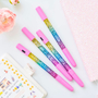 עט עם קריסטל נוזלי | עט אור בצבעי קשת