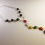 שרשרת צבים רצועות לבנות - שרשרת ארוכה - שרשרת צבעונית - שרשרת מאבנים טבעיות