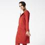 שמלה אדומה עם שרוול ארוך