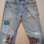 ג'ינס ליוויס LEVI'S סבנטיז משופשף קרעים   ג'ינס וינטג' סבנטיז היפי שיק מקורי מידה M