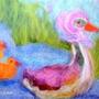 7 תמונות לילדים, 7 גלויות ברכה-הדפסי נייר של ציורים שצויירו בצמר