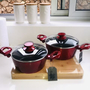 סט סירים אדום Merlot | סירי סולתם | בישול ואפייה | סירים ומחבתות | כלי מטבח | מתנות לבית