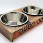 קערת אוכל ושתיה לכלב מעוצבות,עבודת יד אומנית מפורסמת.