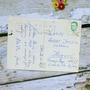 גלויה וינטאג'. איורי וינטאג'. גלויות ישנות. גלויות עתיקות. תמונה לתליה. חדר ילדים. מכתבים ישנים. סקראפבוקינג. אספנות וינטאג'. כריסמס חורף.