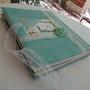 אלבום לבת מצווה / דגם תורכיז / אלבום מינימליסטי / ספר ברכות לבת מצווה עם תמונות