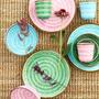 קערית מלמין דמוי קרמיקה בצבע ורוד | RICE DK