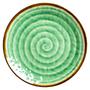 צלחת מנה ראשונה מלמין דמוי קרמיקה בצבע ירוק | RICE DK