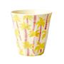 כוס מלמין טוטון בהדפס עץ דקל צהוב | RICE DK | SOFI
