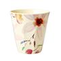 כוס מלמין טוטון בהדפס פרחי סלמה ברקע קרם | RICE DK | SOFI