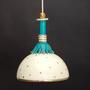 מנורה מאד מיוחדת במינה, בינונית מעוטרת בזהב וטורקיז