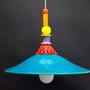מנורה צבעונית - מנורה לפינת אוכל - מנורה לאי במטבח - מנורה טורקיז - גוף תאורה לפינת אוכל - גוף תאורה צבעוני - מנורות מיוחדות