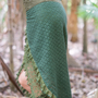 חצאית ירוק צבאי / חצאית מעוצבת
