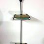 זוג מדפים דקורטיבים מעץ וברזל בגווני כחול-ירוק וינט'ג, מדף לקישוט, מדף מעוצב, מדף לסלון, לעיצוב הבית