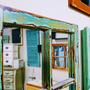 מראה מיוחדת ממסגרת של חלון ישן - מראה מחולקת ל-6 - בסגנון וינט'ג ובגוונים ייחודיים.