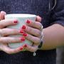 ספל קרמיקה | ספל קפה בצבע ג'ינגי | כוס קפה | ספל מעוצב | הפסקת קפה