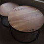 שולחן עגול אלון