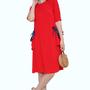 שמלת כיסים עם טריק אדום