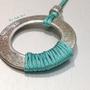שרשרת ארוכה מינימליסטית בצבע טורקיז וכסף