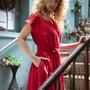 שמלת מעטפת אדומה , שמלת כותנה אדומה
