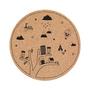 """שטיח אקולוגי עגול לחדר ילדים, שטיח טבעי, משטח פעילות, שעם טבעי   Rooga רוגה   עץ החלומות. קוטר 130 ס""""מ"""