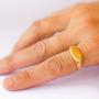 טבעת חותם / מס.9 / טבעת גולדפילד / מידת טבעת 8.5