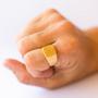 טבעת חותם 5. טבעת גולדפילד עם חותם מרובע. מידת הטבעת 8.75