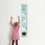 מד גובה לחדר ילדים - חד קרן כוכבים