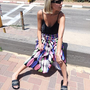 חצאית פליסה סאטן משי