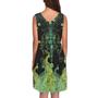 שמלה ללא שרבול- בד סאטין- מידה XS עד 3XL