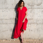 שמלת מקסי אדומה   שמלה קייצית   שמלה יפה ליום יום   שמלה לאירוע   שמלת אוברסייז   שמלה מתרחבת   שמלת בוהושיק   שמלה עם כיסים   מידות גדולות